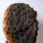 Crochet hat and scarf Lace gradient..